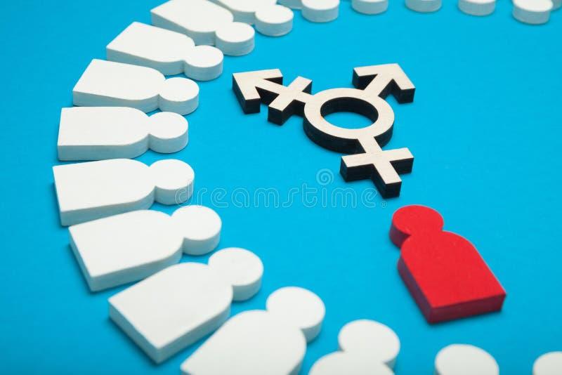 Cambie de sexo el símbolo, concepto del activista Fondo para una tarjeta de la invitaci?n o una enhorabuena foto de archivo