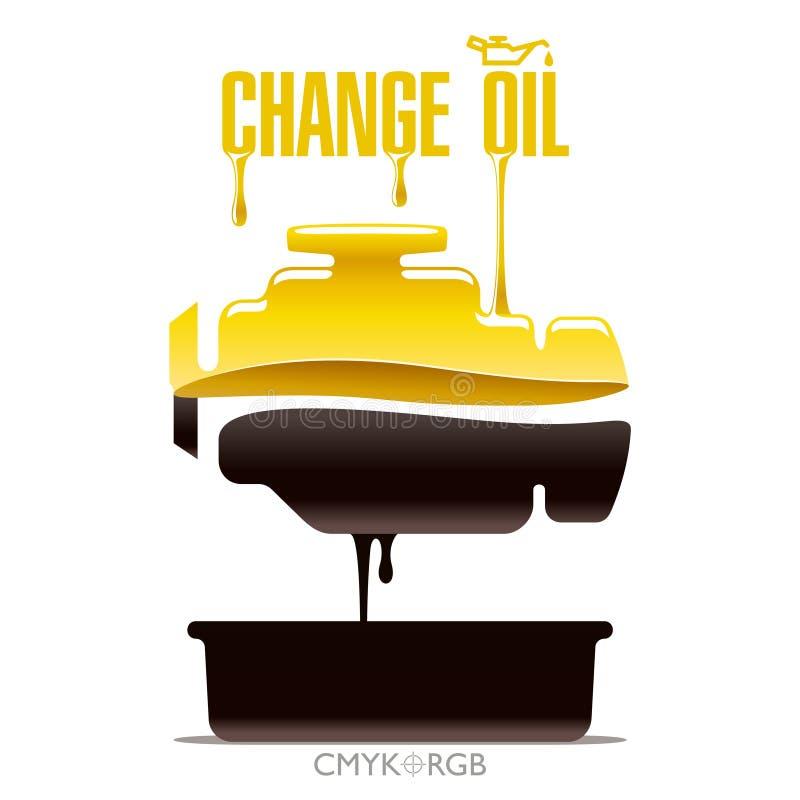 Cambie el aceite de motor stock de ilustración