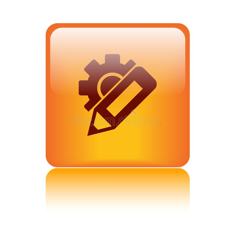 Cambie el botón del icono de los ajustes libre illustration