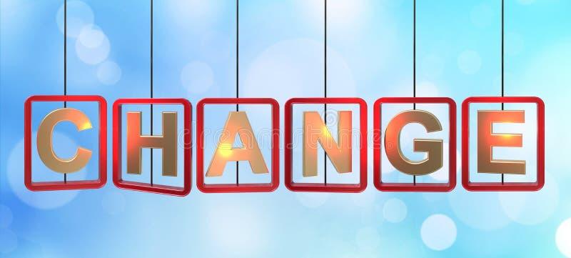 Cambie el colgante de las letras stock de ilustración