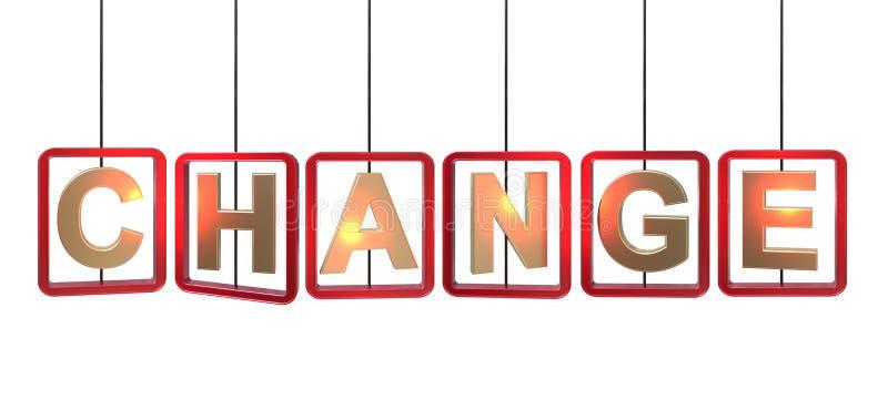 Cambie el colgante de las letras libre illustration