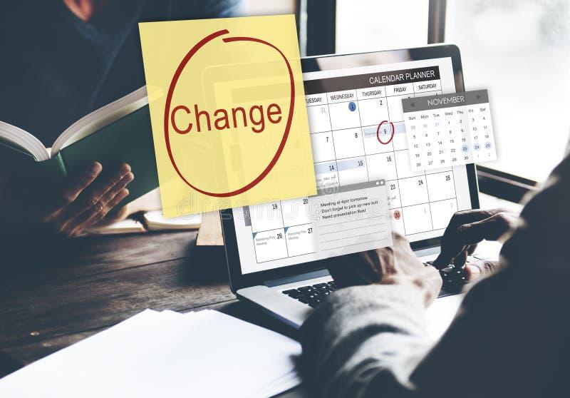 Cambie el concepto del horario del evento de la cita foto de archivo libre de regalías