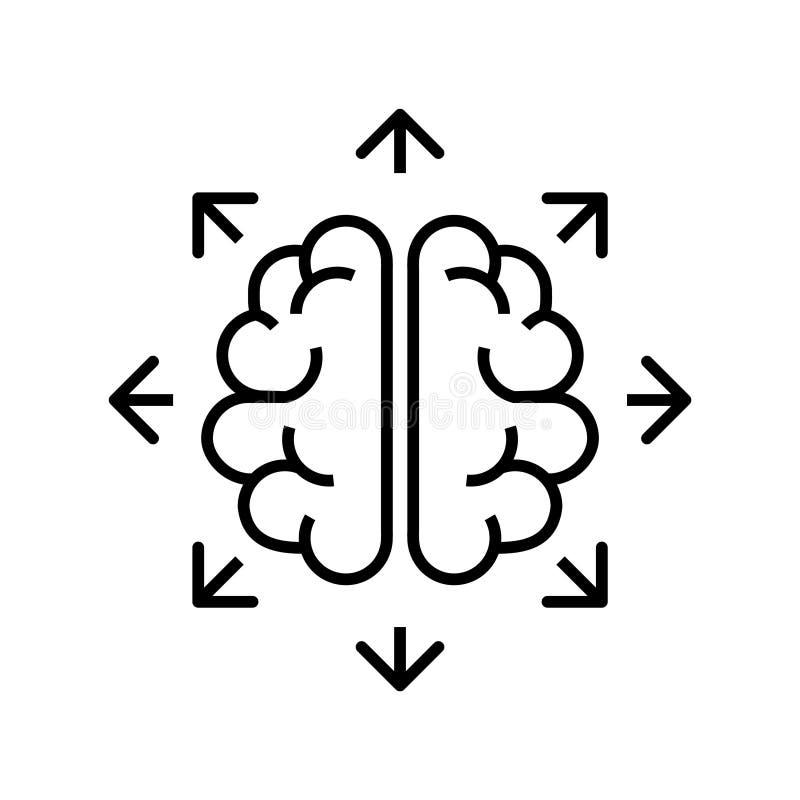 Cambie el icono de pensamiento, ejemplo del vector ilustración del vector