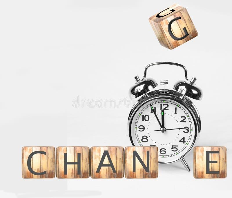 Cambie el texto de los dados del reloj de tiempo - representación 3d libre illustration