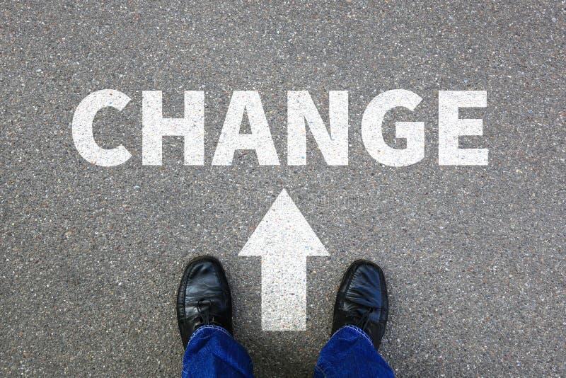 Cambie el trabajo cambiante del trabajo su concepto del negocio de los cambios de la vida imagen de archivo