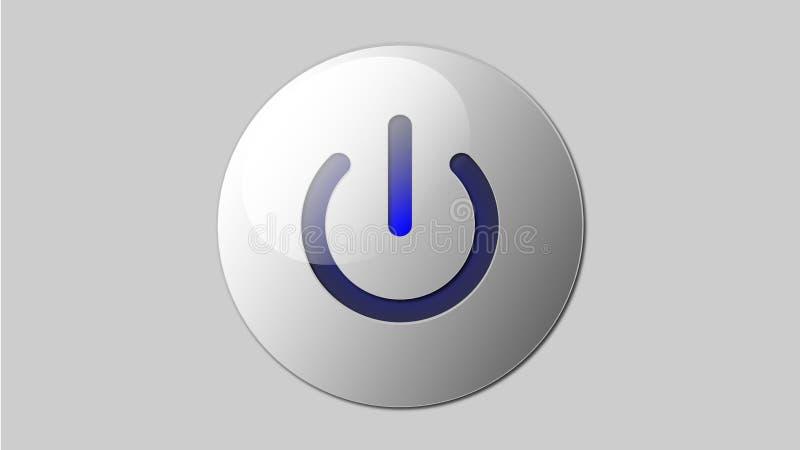 Cambie el vector del botón de encendido 3d libre illustration