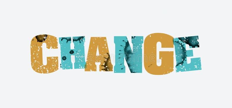 Cambie la palabra sellada concepto Art Illustration libre illustration