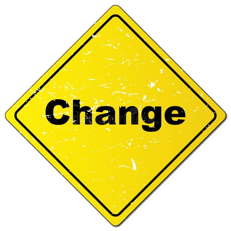 Cambie la señal de tráfico libre illustration