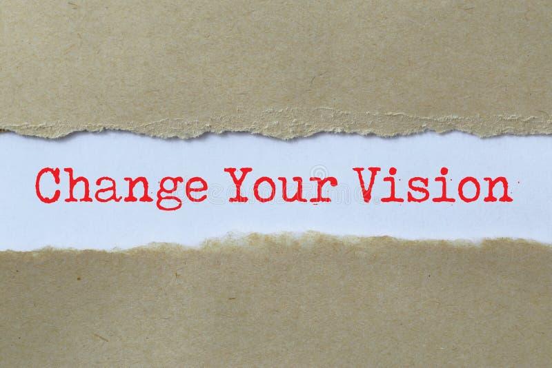 Cambie su ejemplo de la visión imagen de archivo libre de regalías