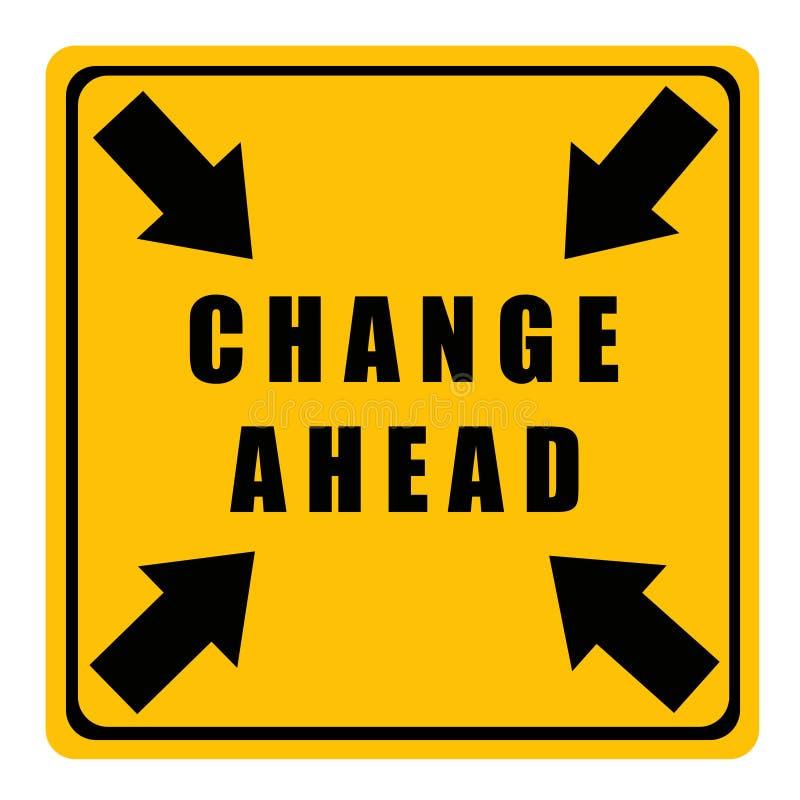 Cambio a continuación stock de ilustración