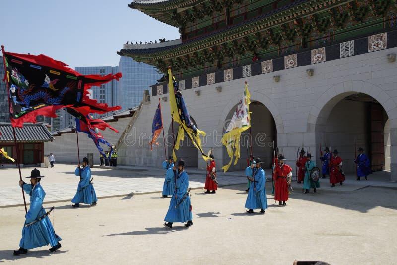 Cambio de la ceremonia del guardia, Corea imagen de archivo libre de regalías