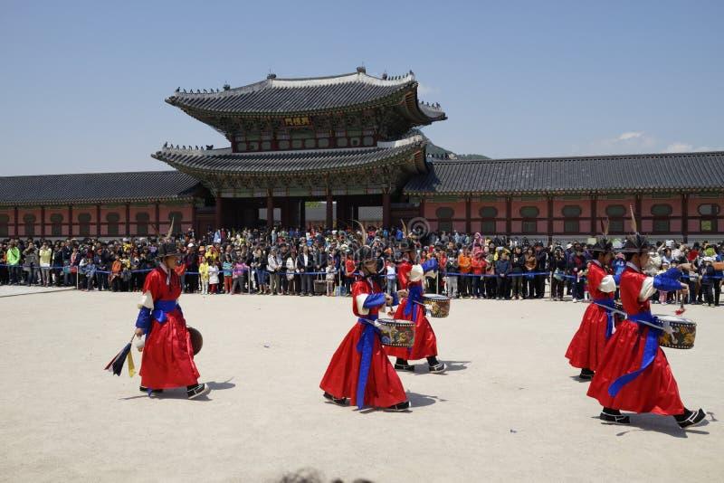 Cambio de la ceremonia del guardia, Corea imagenes de archivo