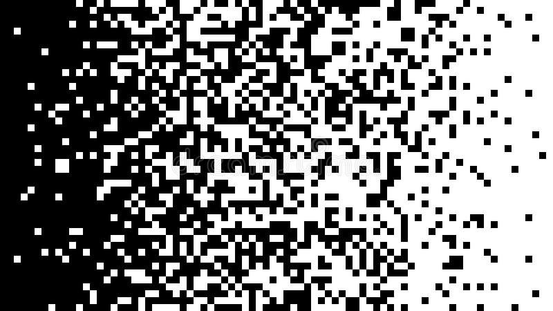 Cambio de la pendiente del color de negro al blanco de cuadrados ilustración del vector