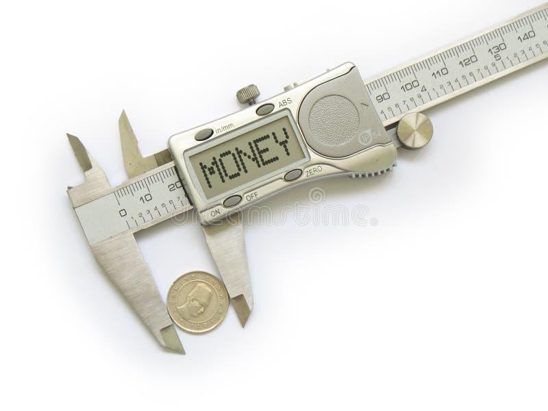 Cambio de las medidas del calibrador fotografía de archivo libre de regalías