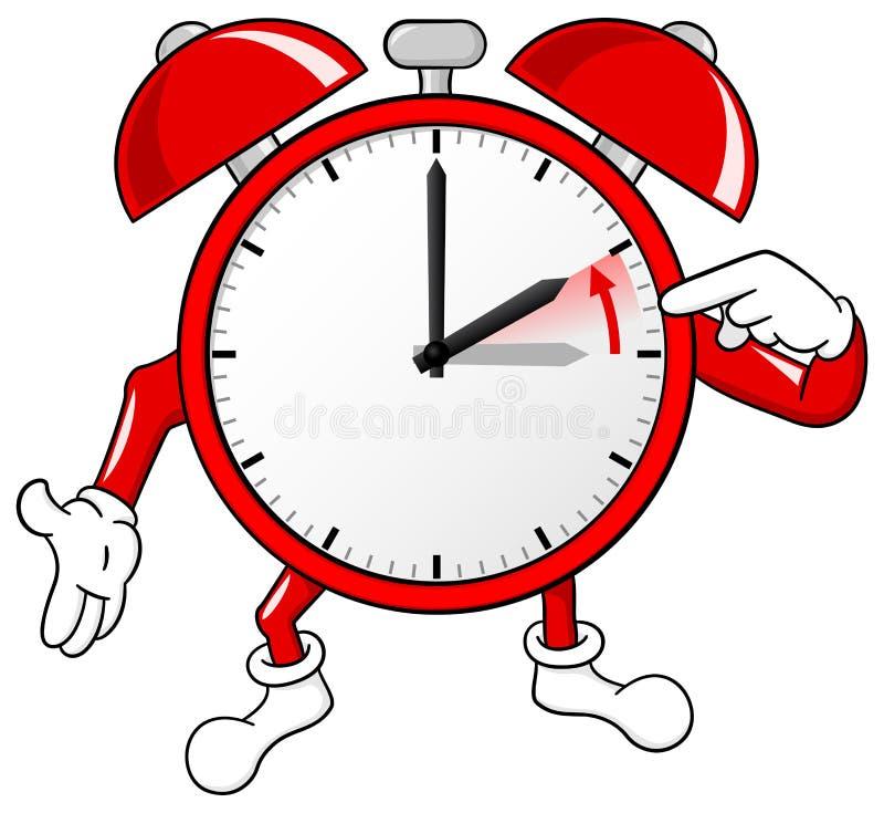 Cambio del despertador a la hora estándar ilustración del vector