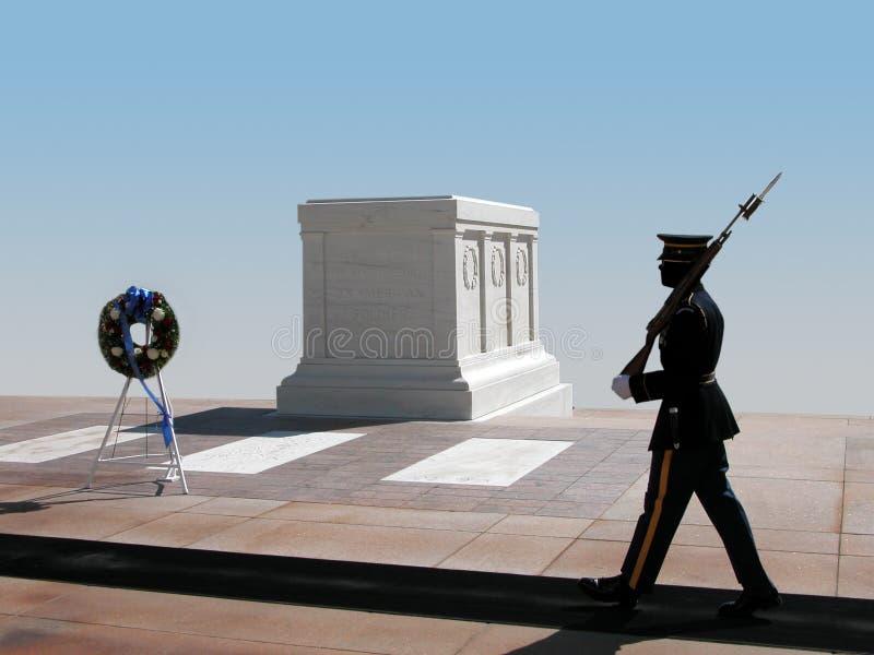 Cambio del protector, cementerio nacional de Arlington fotografía de archivo