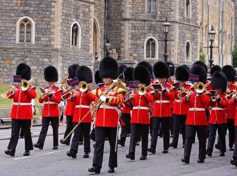 Cambio del protector en el castillo de Windsor, Inglaterra fotografía de archivo libre de regalías