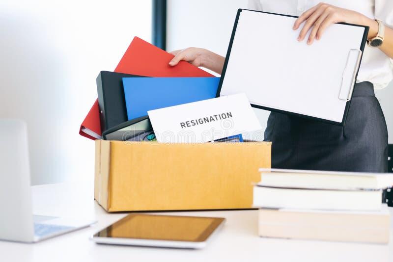 Cambio del trabajo, desempleo, concepto dimitido foto de archivo libre de regalías