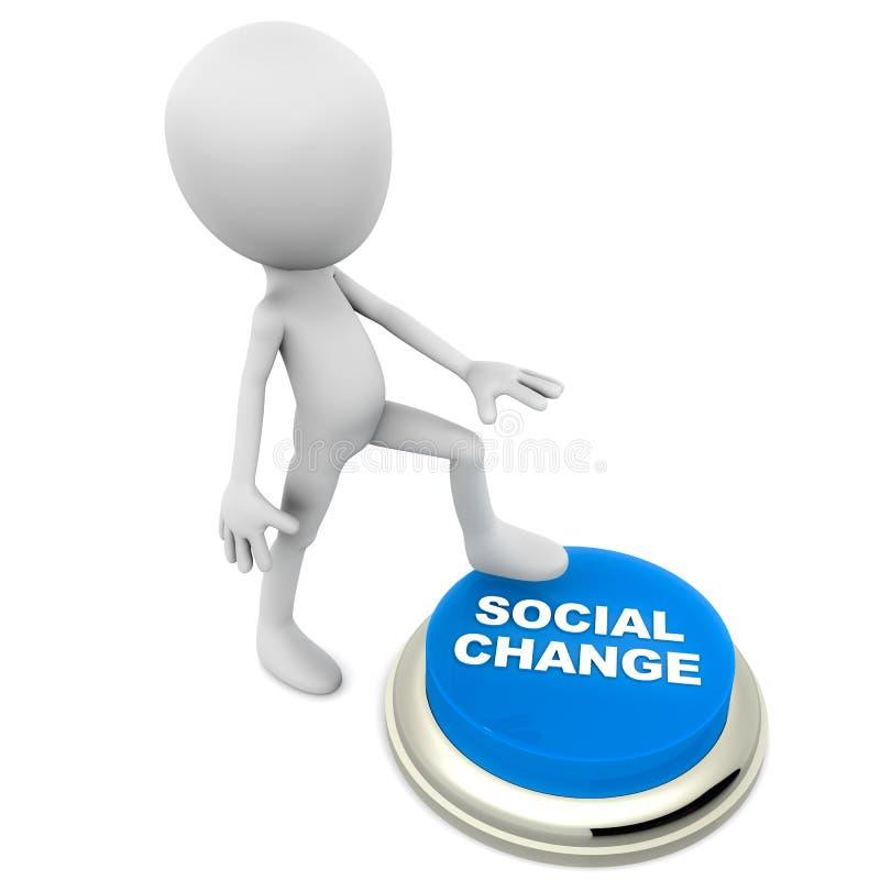 Cambio social ilustración del vector