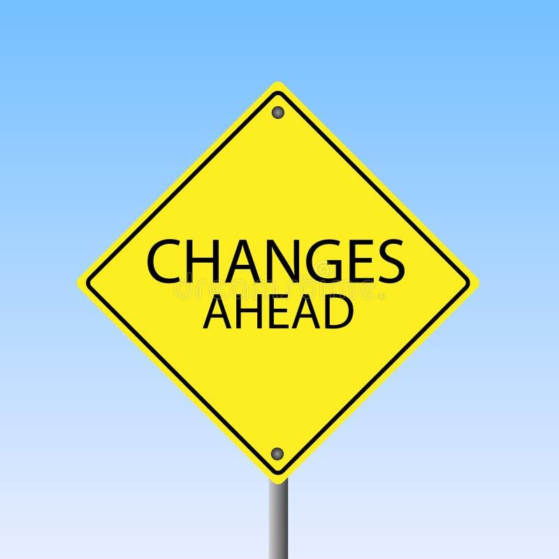 Cambios a continuación stock de ilustración