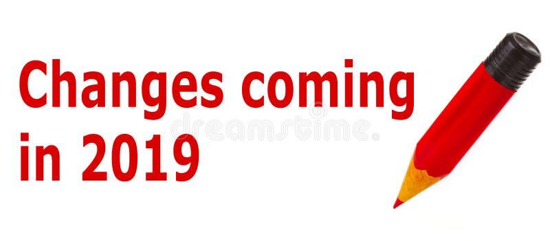 Cambios que vienen en 2019 imágenes de archivo libres de regalías