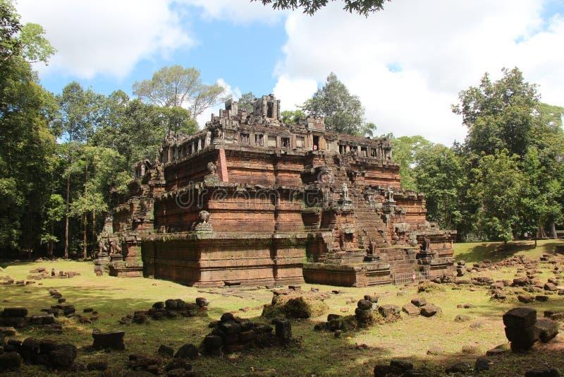 cambodia Angkor Thom City Phimeanakas tempel Siem Reap landskap Siem Reap stad arkivfoton