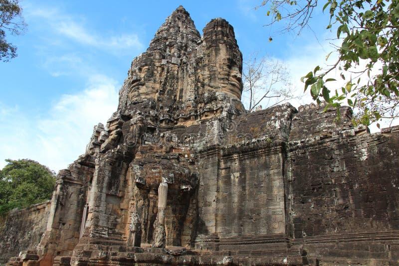 cambodia Angkor Thom City Siem Reap landskap Siem Reap stad fotografering för bildbyråer