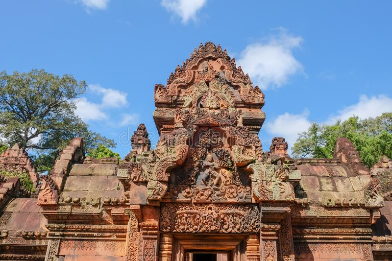 cambodia antyczna świątynia Banteay Srei zakazu Tai Srei Świątynna świątynia Angkor kompleks w Kambodża obrazy stock