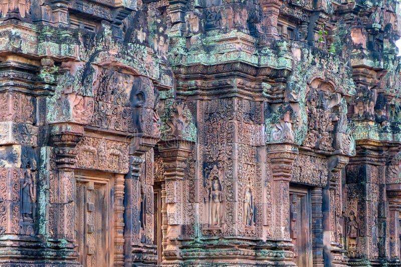 cambodia antyczna świątynia Banteay Srei zakazu Tai Srei Świątynna świątynia Angkor kompleks w Kambodża zdjęcie royalty free