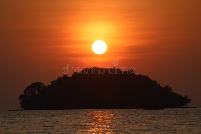 cambodia Città di Sihanoukville Spiaggia di Otres immagini stock