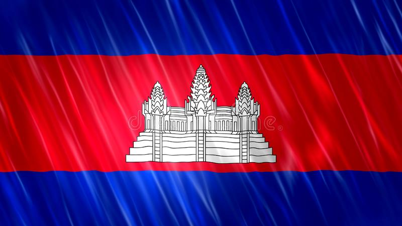 Cambodia Flag royalty free stock images
