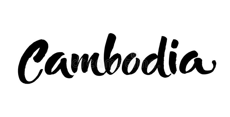 Download Cambodia Hand Drawn Ink Brush Lettering Modern Calligraphy Handwritten Phrase Inspiration