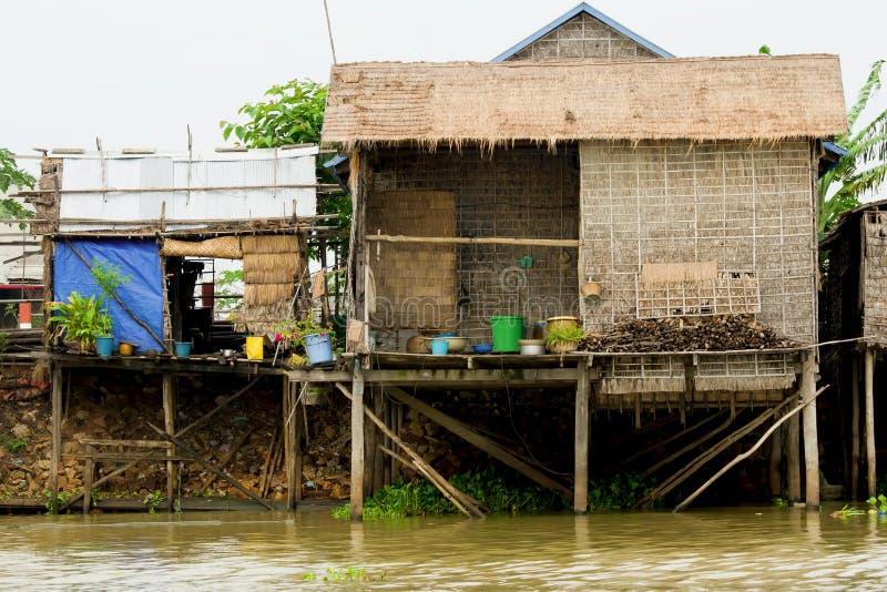 cambodia houses lantligt royaltyfria foton