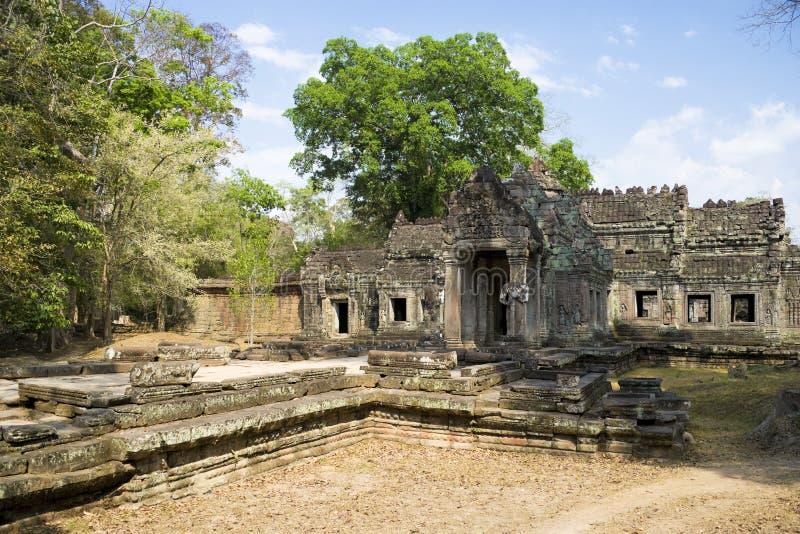 cambodia khan preah arkivbild