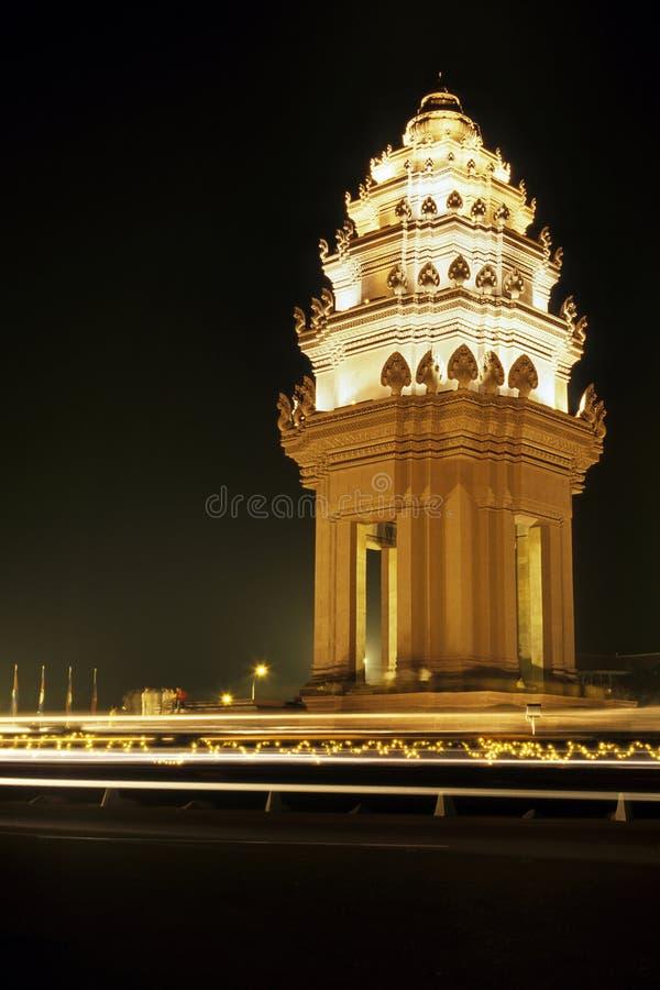 Cambodia Niezależności Pomnikowy Penh Phnom Zdjęcia Royalty Free