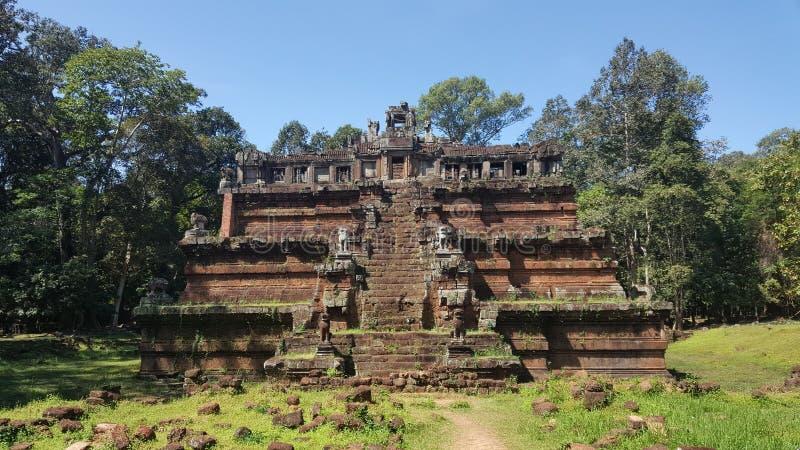cambodia Phimeanakas tempel Angkor Thom City Siem Reap landskap Siem Reap stad arkivfoton