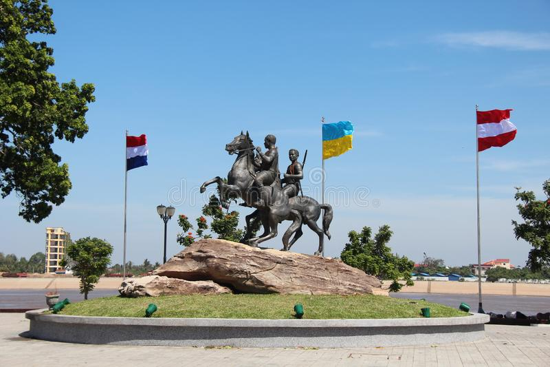 cambodia Preah Sisowath Quay Decho Meas Decho Yat Ville de Phnom Penh photos libres de droits