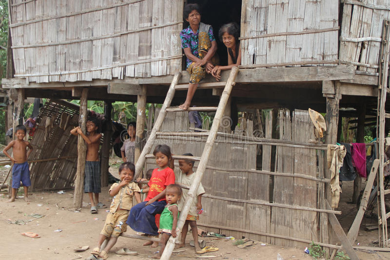 cambodia rodziny khmer obrazy stock