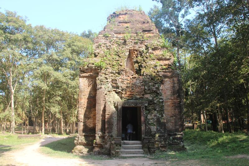 cambodia Sambor Prei Kuk Kampong Thom Province Kampong Thom City immagini stock libere da diritti