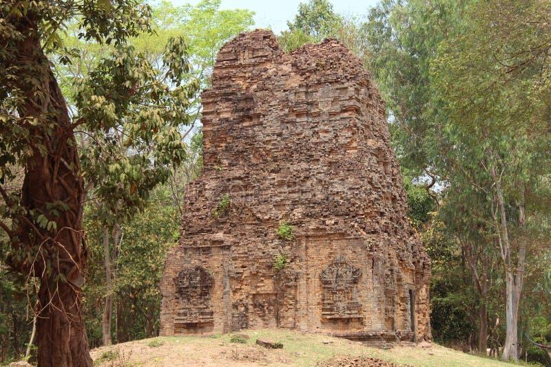 cambodia Sambor Prei Kuk tempel Kampong Thom Province Kampong Thom City arkivbild