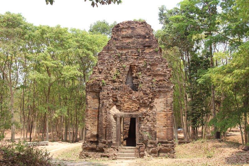 cambodia Sambor Prei Kuk tempel Kampong Thom Province Kampong Thom City fotografering för bildbyråer