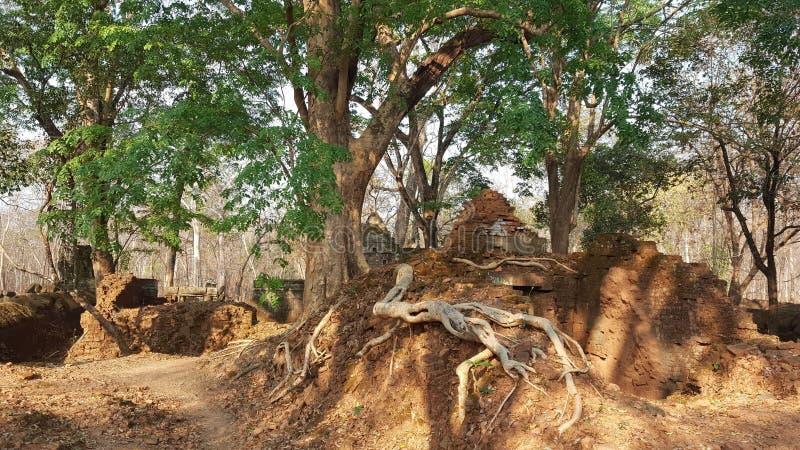 cambodia Screpolatura di Prasat Kra Città di Koh Ker Provincia di Siem Reap Città di Siem Reap fotografia stock