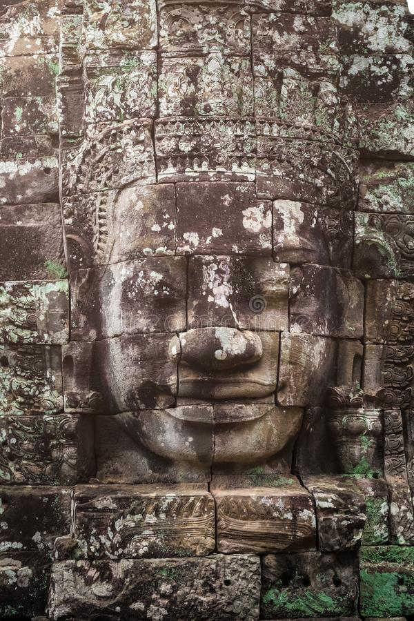 Cambodia Siem Reap Angkor Wat Bayon Temples. And Statues royalty free stock photos