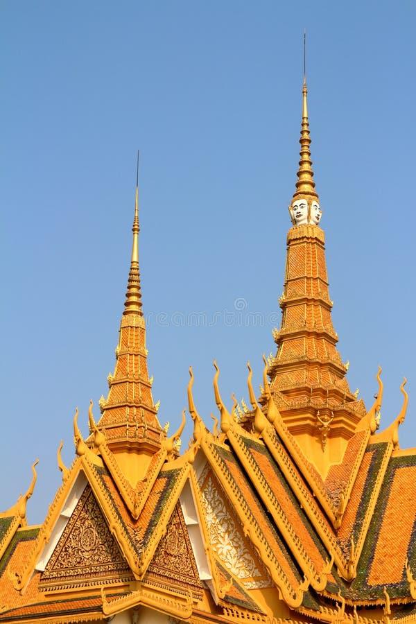 cambodia slottkunglig person fotografering för bildbyråer