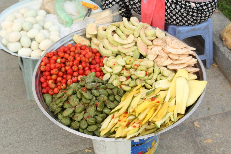 Cambodia Snacks stock images