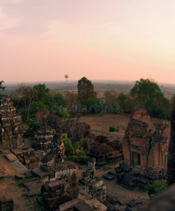 Cambodia sunset stock photo