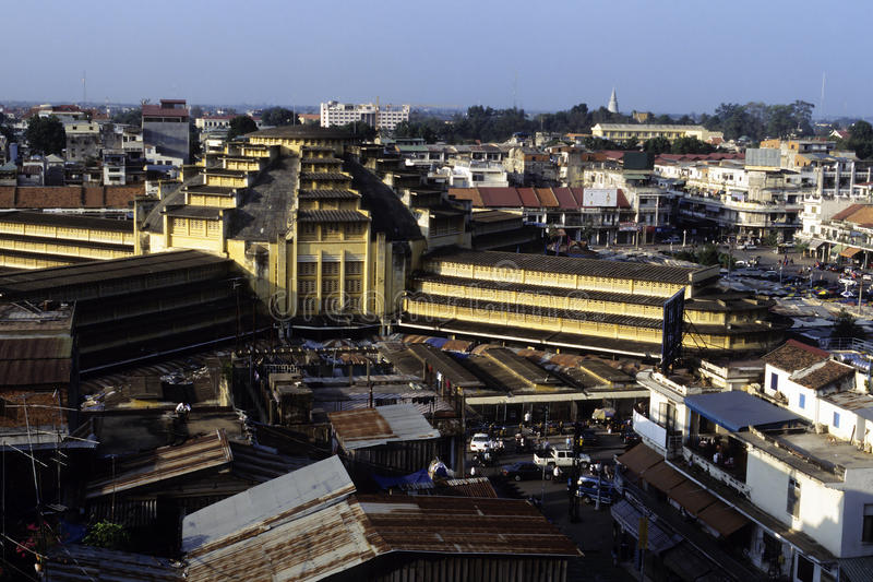 cambodia targowy penh phnom obraz stock