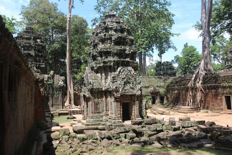 cambodia Temple de Ta Prohm Province de Siem Reap Ville de Siem Reap image stock