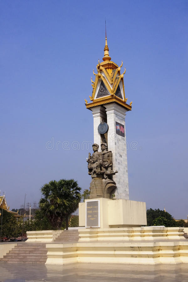 Cambodia-Vietnam Friendship Monumen in Phnom Penh stock photography