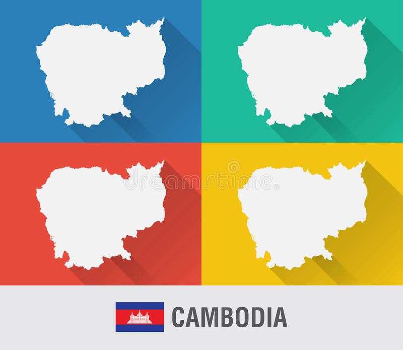 Cambodia world map in flat style with 4 colors stock photo image download cambodia world map in flat style with 4 colors stock photo image of gumiabroncs Images